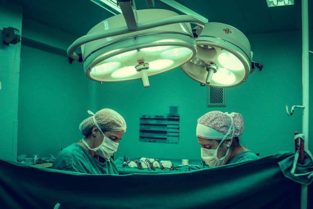 Surgery Theater Room with Green Hue