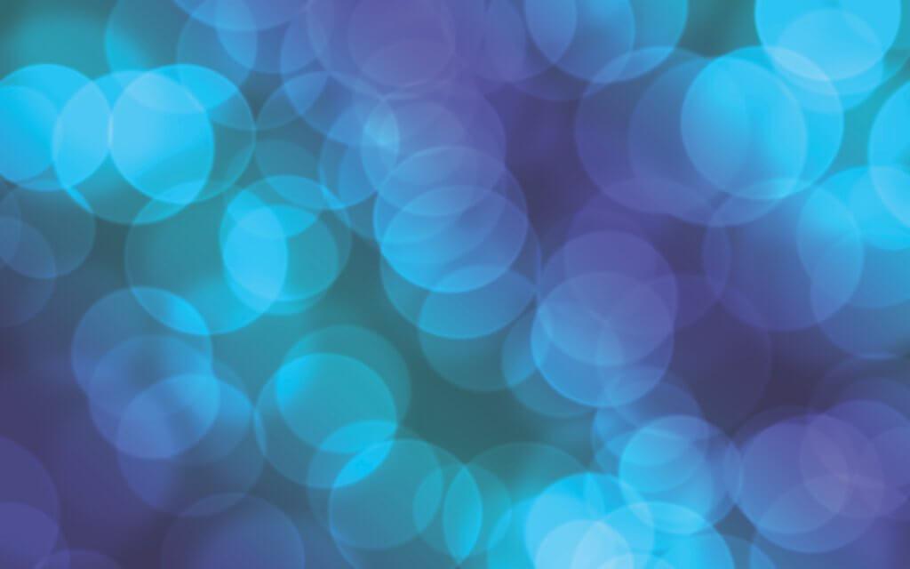 Blue Lights as Circles