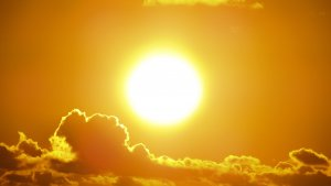 Bright Sun With Clouds