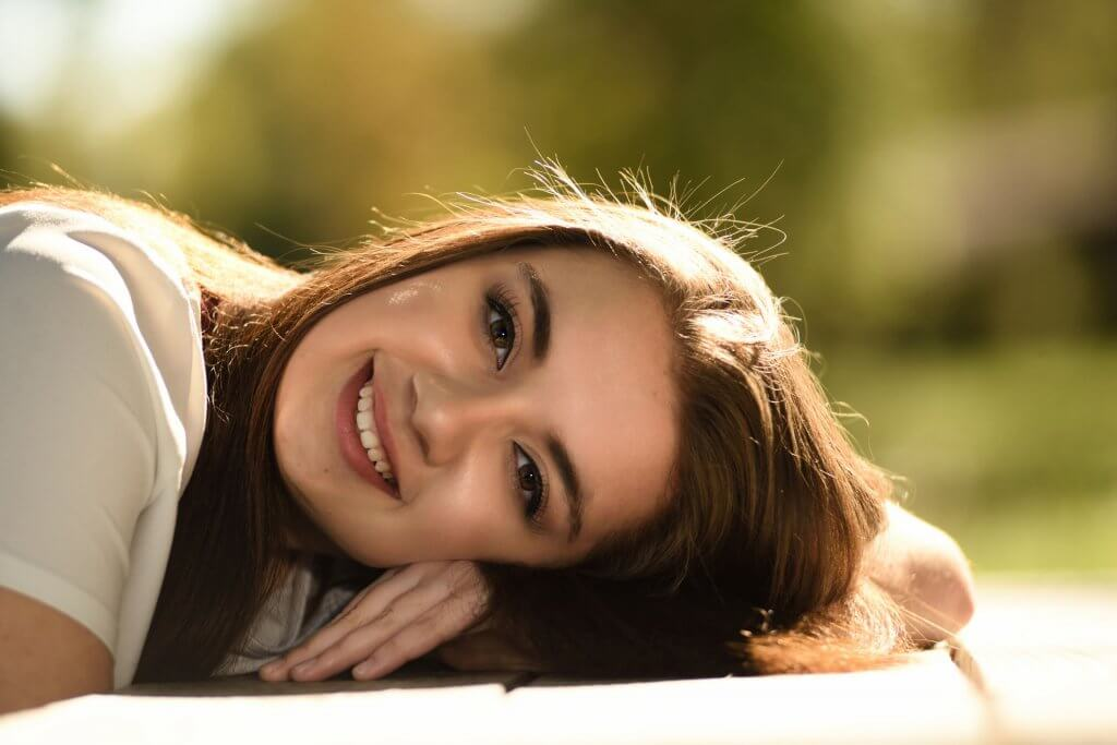 Happy Beautiful Girl Smiling