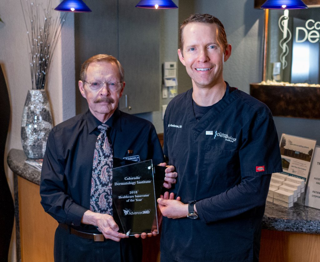 Innovator of the Year Award from AdvancedMD - Dr Jeffry and Reagan Anderson