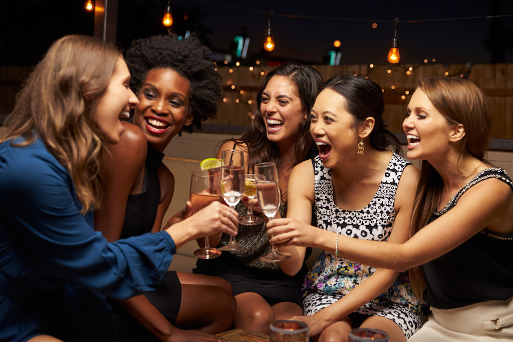 Women Enjoying Night Out