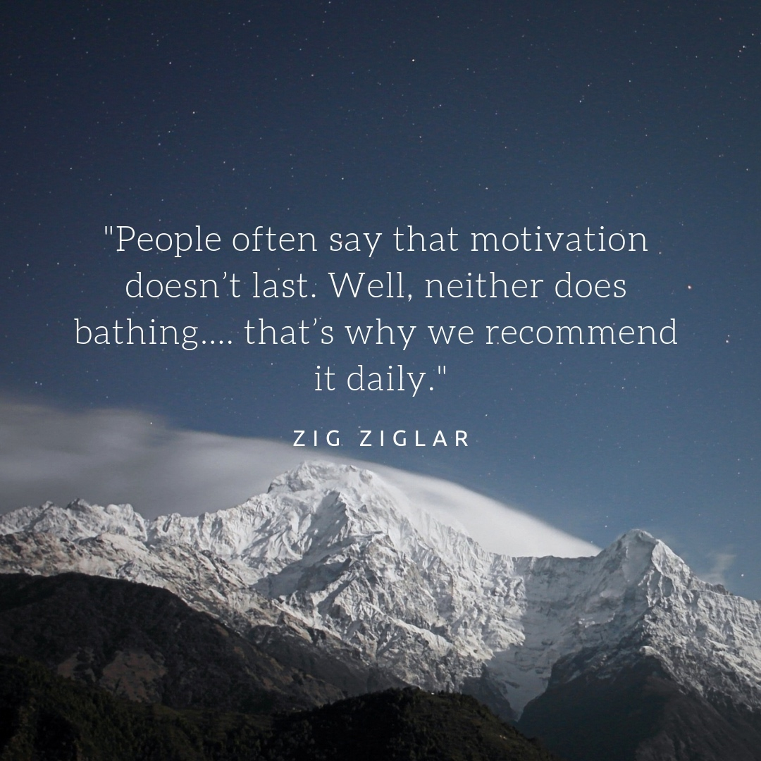 A Zig Ziglar Quote and Mountains