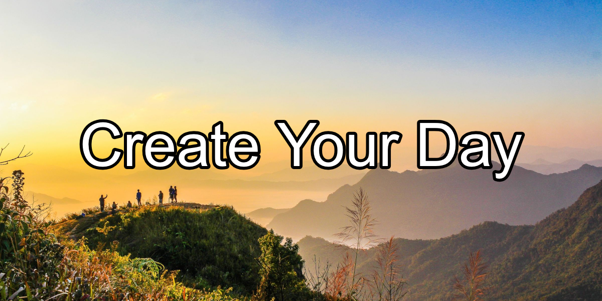 Create Your Day - People at Cliffside